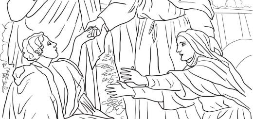 jesus-raises-widows-son-coloring-page