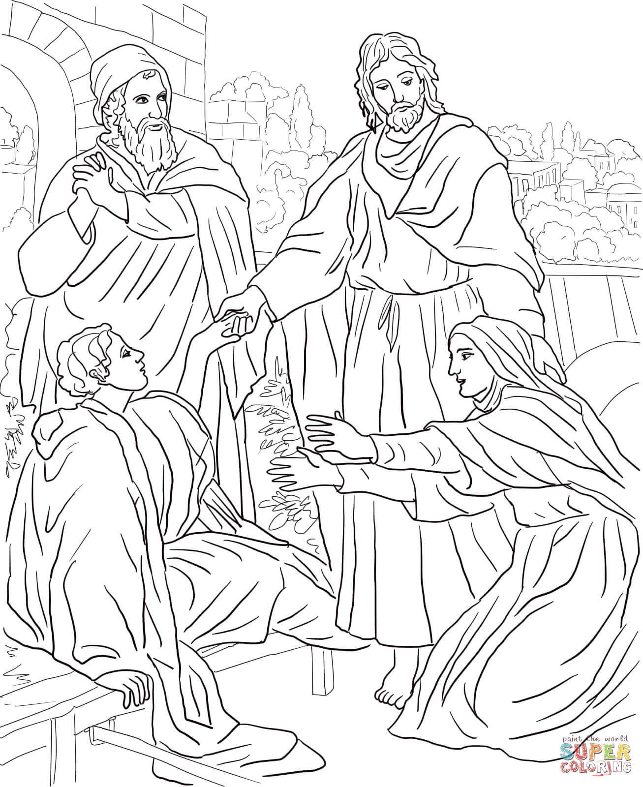 jesus-raises-widows-son-coloring-page