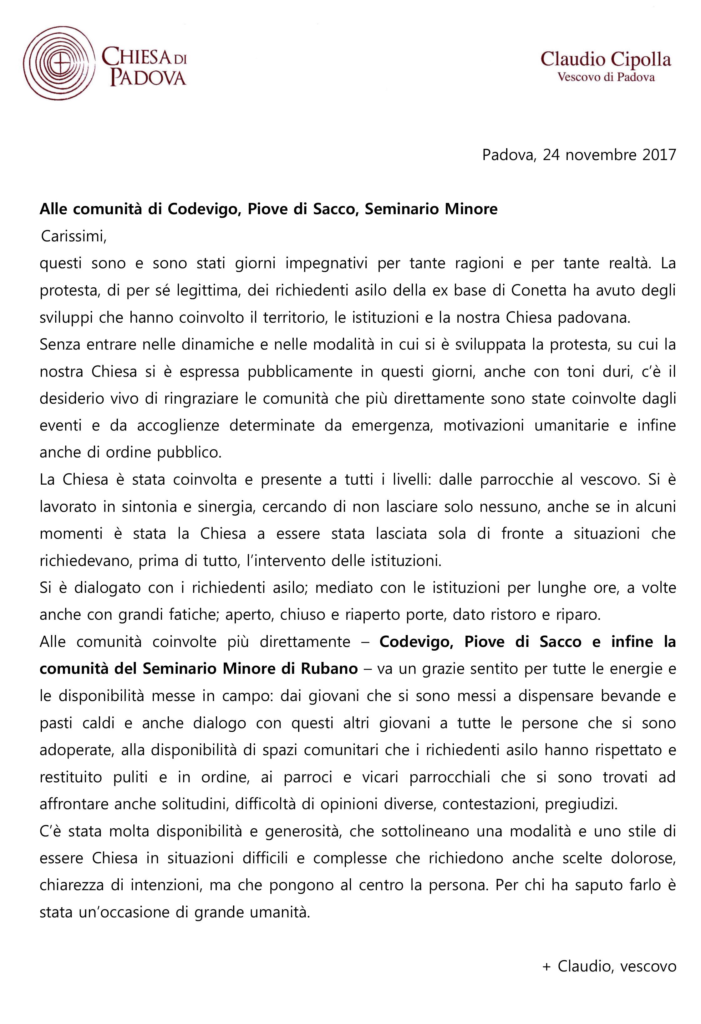 lettera_vescovo_comunita_accoglienti